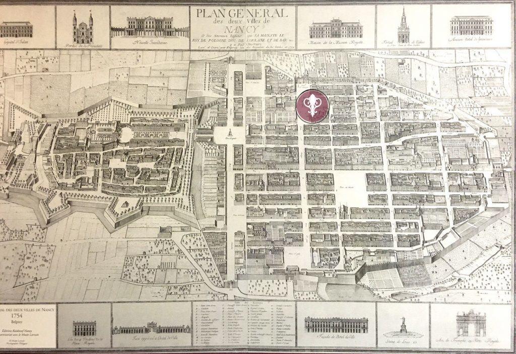 Plan général de l'Hôtel des Prélats à Nancy
